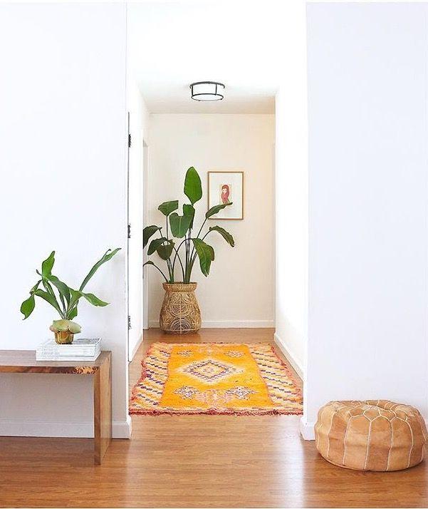 Simple clean boho entryway...