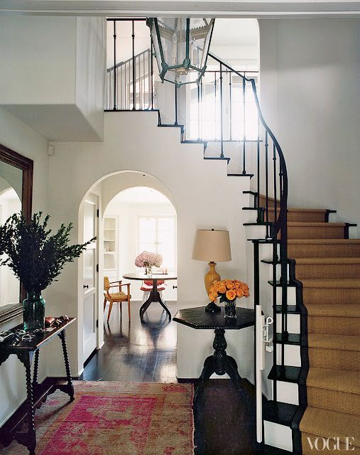 Stair Runner: Simple Seagrass with Border