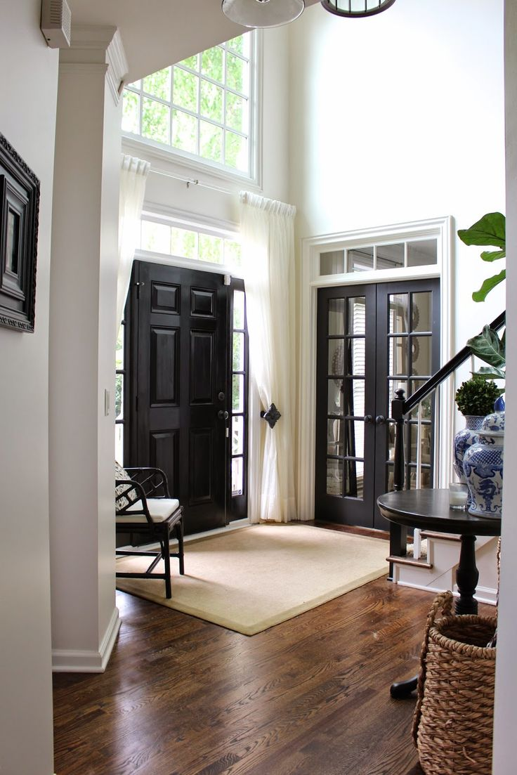 TiffanyD: Foyer changes... Adding privacy, texture, and a new (old) rug (lucite ...