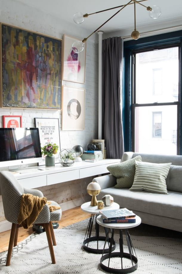7 Ways To Fit A Worke Into Small E Apartment Therapy