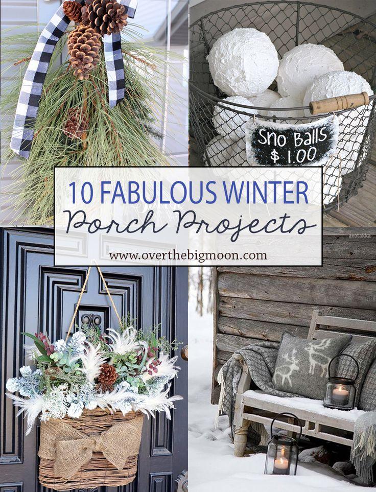 Gardening And Outdoor Decor 10 Wonderful Winter Porch