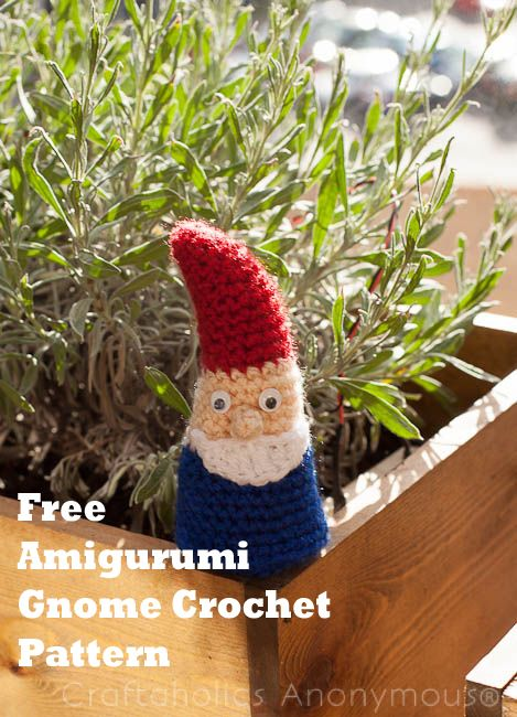 Gardening And Outdoor Decor Free Crochet Pattern For A Gnome Fun