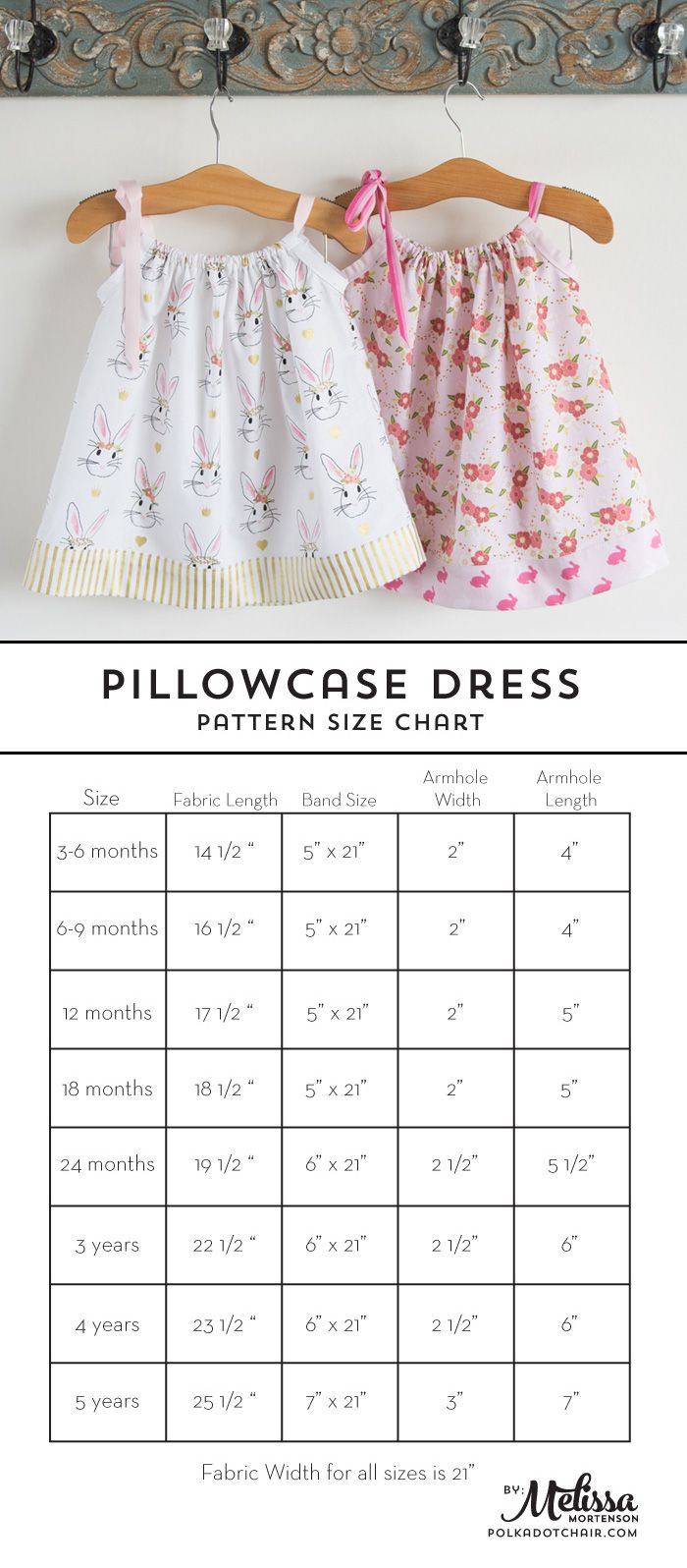 Learn how to sew a pillow case dress with this Pillowcase Dress Tutorial. Includ...