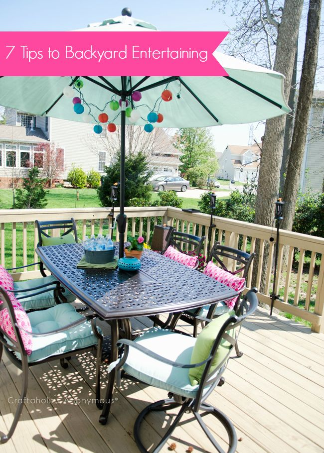 Tips and tricks for Outdoor Entertaining. Practical ideas and tips! & Gardening and Outdoor Decor : Tips and tricks for Outdoor ...