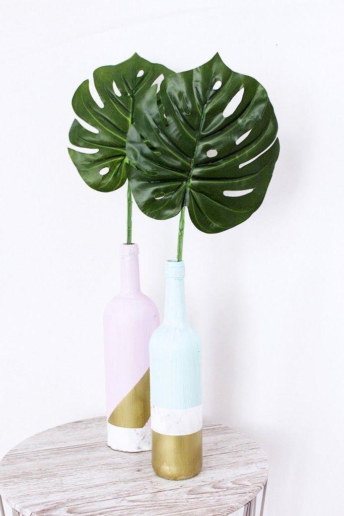 home decor diy 39 s upcycling deko vasen aus alten flaschen basteln decor object your. Black Bedroom Furniture Sets. Home Design Ideas