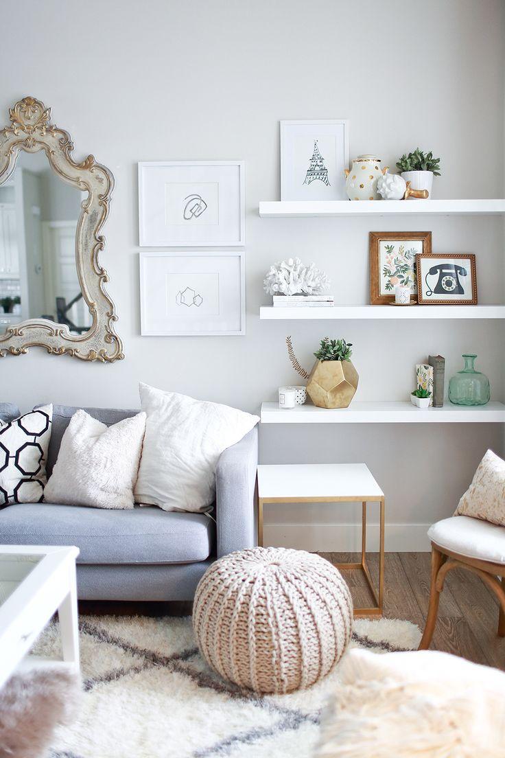 Home Decor - Living Room : IKEA lack wall shelves... - Decor ...