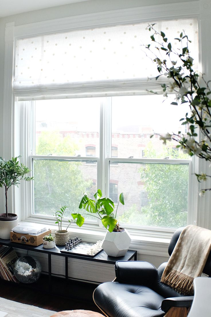 Home Decor - Living Room : low shelf below window - Decor