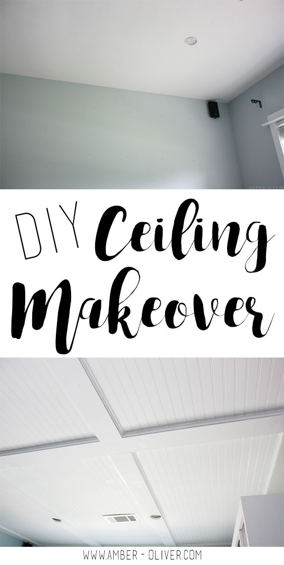 Home Decorating DIY Projects: DIY Ceiling Makeover - How to ...