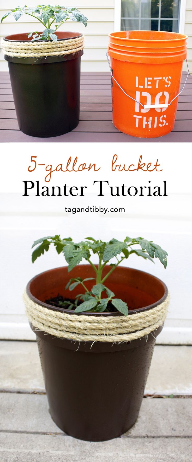 Home Decorating Diy Projects How To Make A Planter From A 5 Gallon