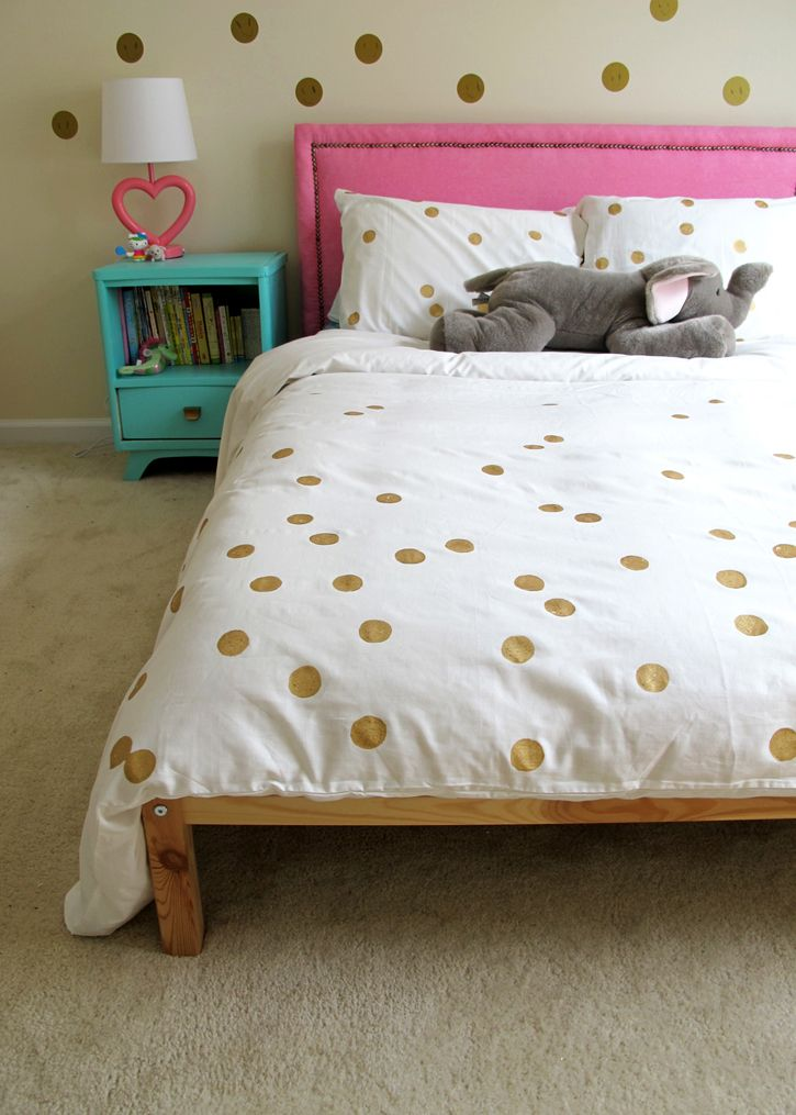 Home Decorating Diy Projects Ikea Hack Painted Dot Duvet