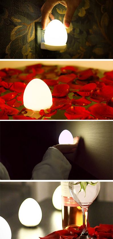 This cute little egg is a portable wireless lamp...
