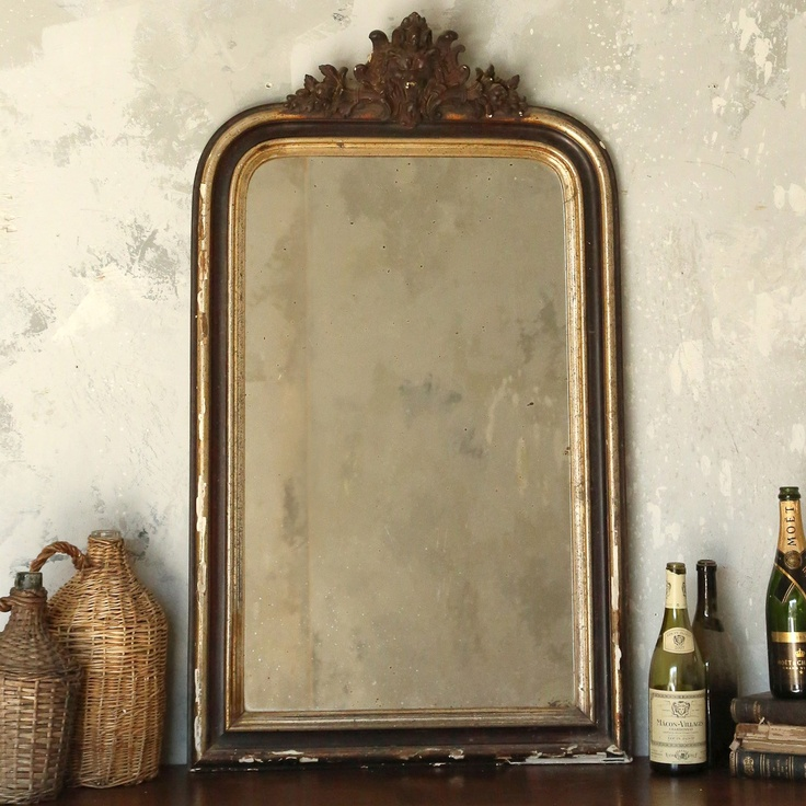 Mirrors home decor antique mirror louis philippe for Home decorating mirrors