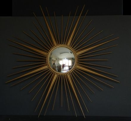Empel Collections - Mirrors - Vintage metal 1960-s convex sunburst mirror