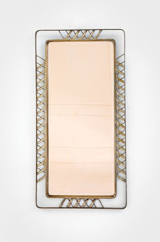 Mirrors Home Decor Gio Ponti Brass And Glass Wall