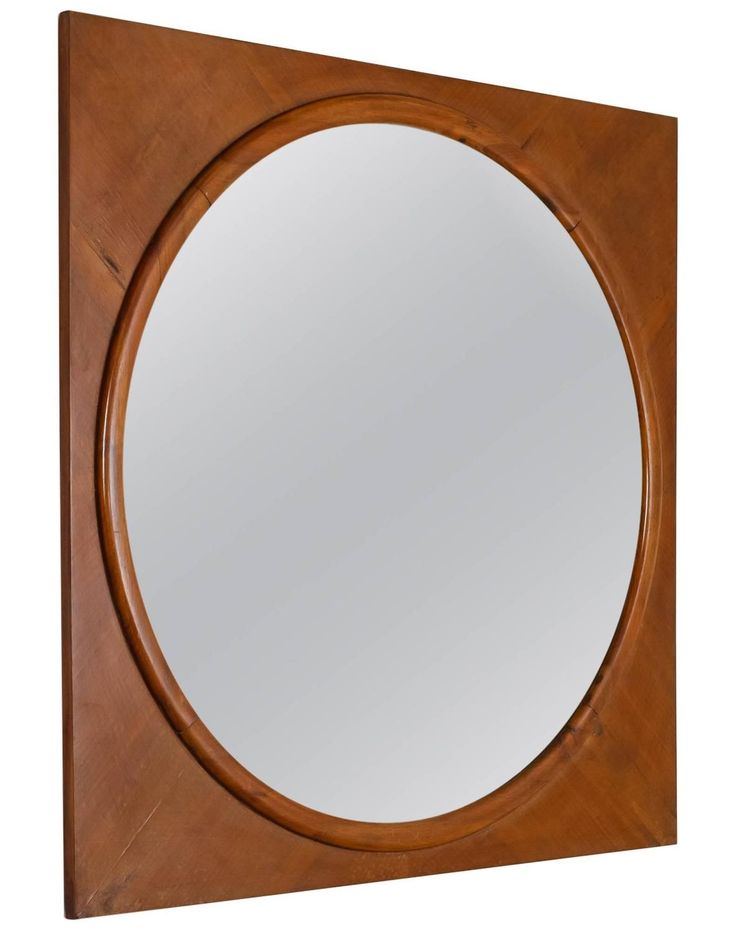 Mirrors home decor large round wall mirror in square for Large round decorative mirror