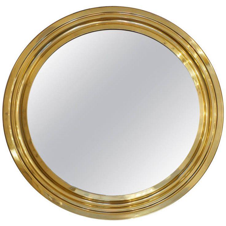 Polished Brass, Italian 1970s Mirror by Sergio Mazza for Artemide...