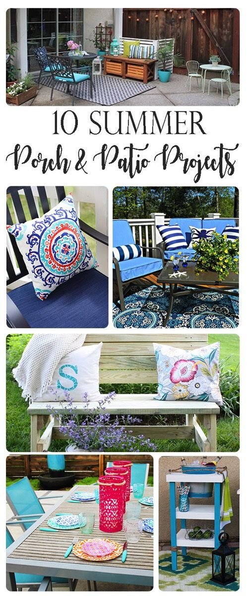 10 Porch and Patio Projects Perfect for Summer. From full backyard makeovers to ...