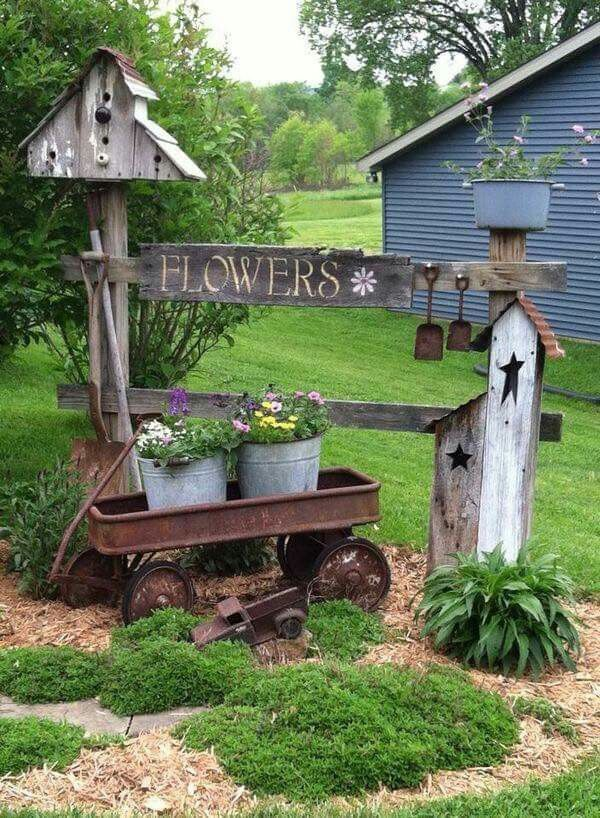 20 Country Garden Decoration Ideas...