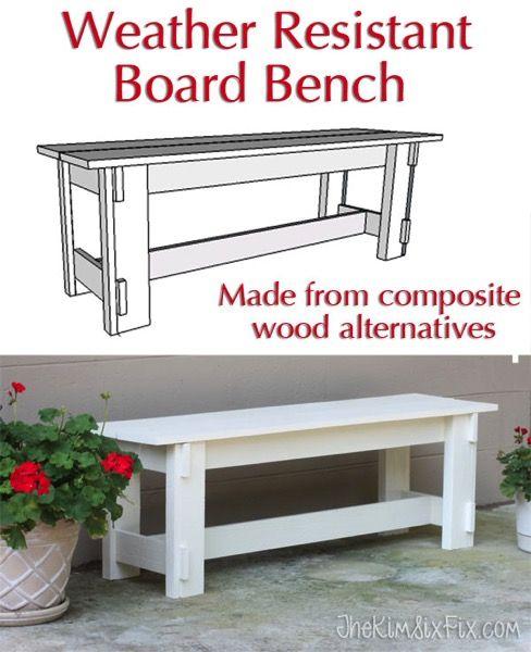 Composite Weather Resistant Bench (AZEK, MiraTEK, Trex)
