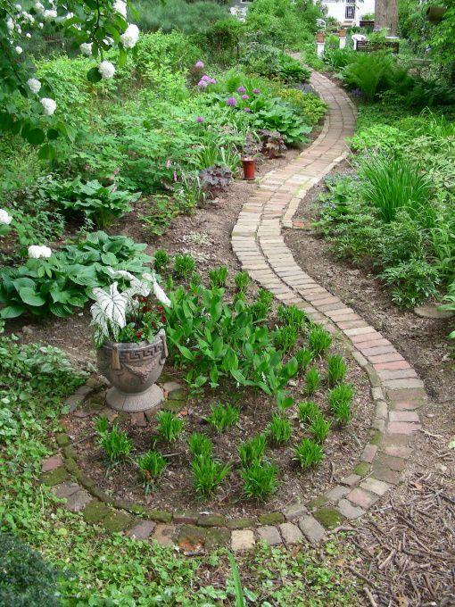 Artful brick path