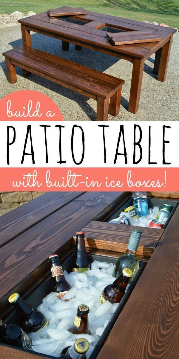 DIY - Patio Table with Ice Boxes
