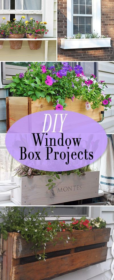 DIY Window Box Projects • Tutorials and ideas for bumping up that curb appeal,...