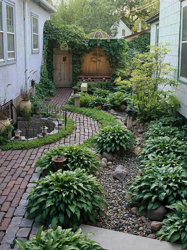 Outdoor Decorating Gardening Garden Design For A Small Side Yard