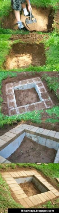 how to build a DIY outdoor fire pit plans to make summer and fall feel like fami...