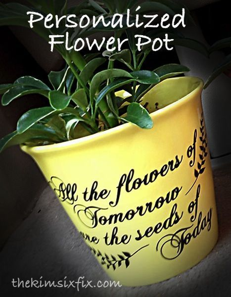 Personalized Flower Pot (Teacher or Mother's Day Gift)
