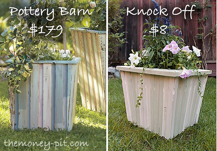 Pottery Barn Reclaimed Wood Planter (Tutorial) | The Kim Six Fix