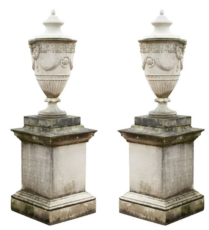 Relics Sculpture Motifs For The Home Adam Style Lidded Urns Decor Object Your Daily