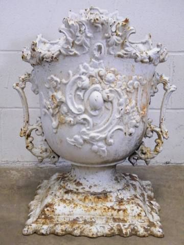 Relics, Sculpture, Motifs For The Home : Columbus Architectural Salvage    Ornate Cast Iron Garden Urn..