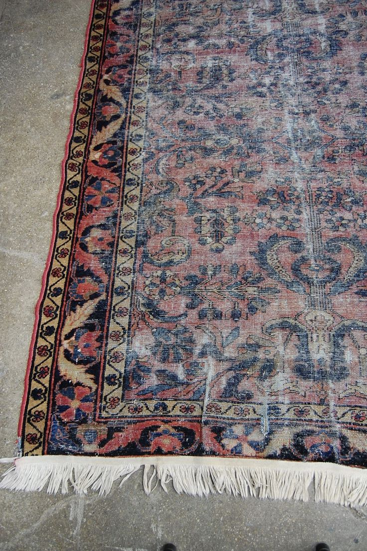 1920's Distressed Persian Sarouk Kilim Rug | The Savoy Flea