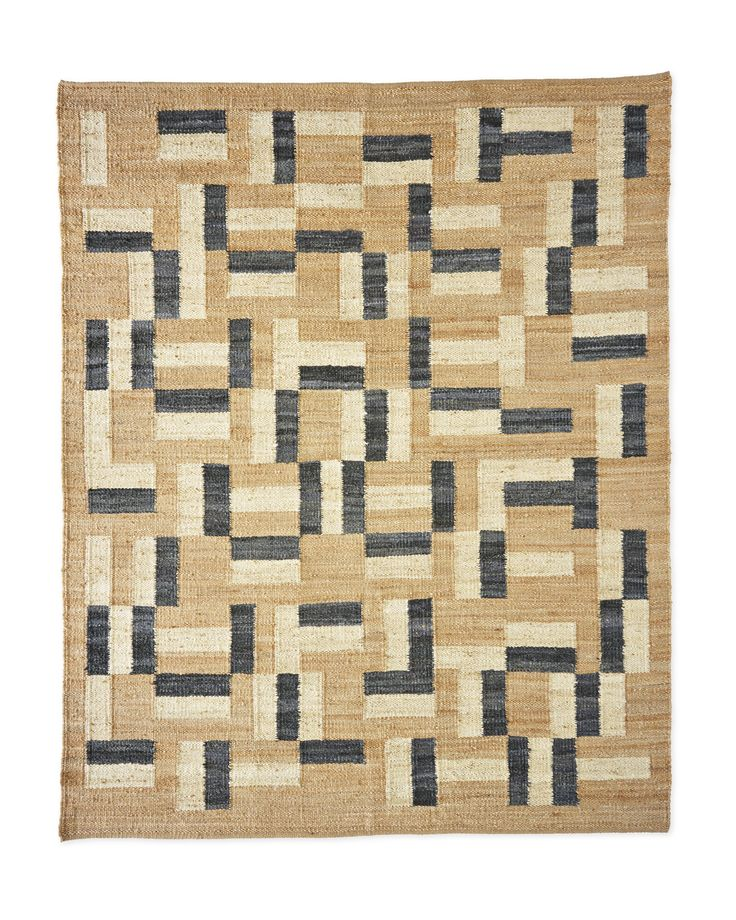 hell yes to this rug! love that modern pattern on jute...