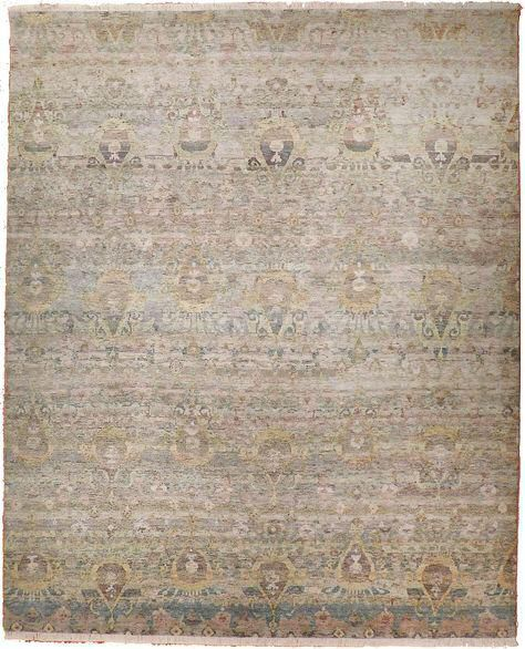 Ikat Hand-Knotted Luxury Rug - 9′ × 12′3″ on Chairish.com...