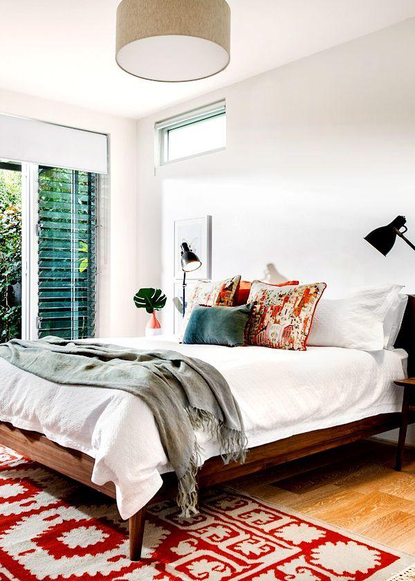 Natural textures in master bedroom...