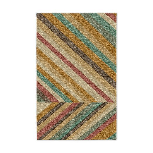 Offset Diamond Jute Rug