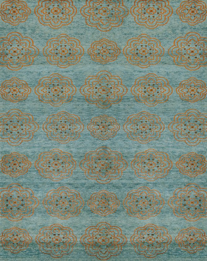 Rugs Home Decor Qing 6065f Teal Decor Object