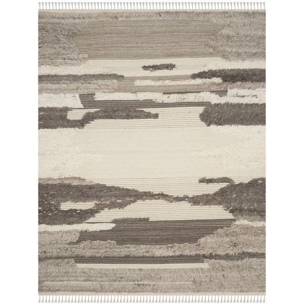 Rugs Home Decor Safavieh Kenya Contemporary Hand Knotted Ivory