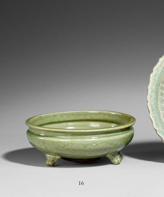 Vases Home Decor A Longquan Celadon Tripod Incense Burner Ming