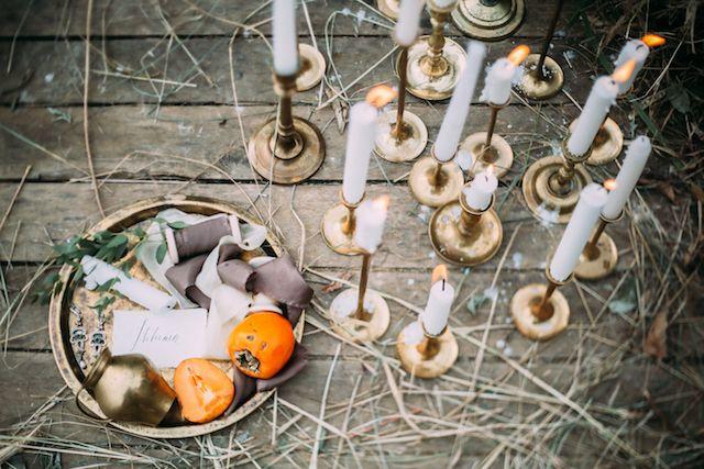 Vintage brass candlesticks | Maria Korneeva Photography...