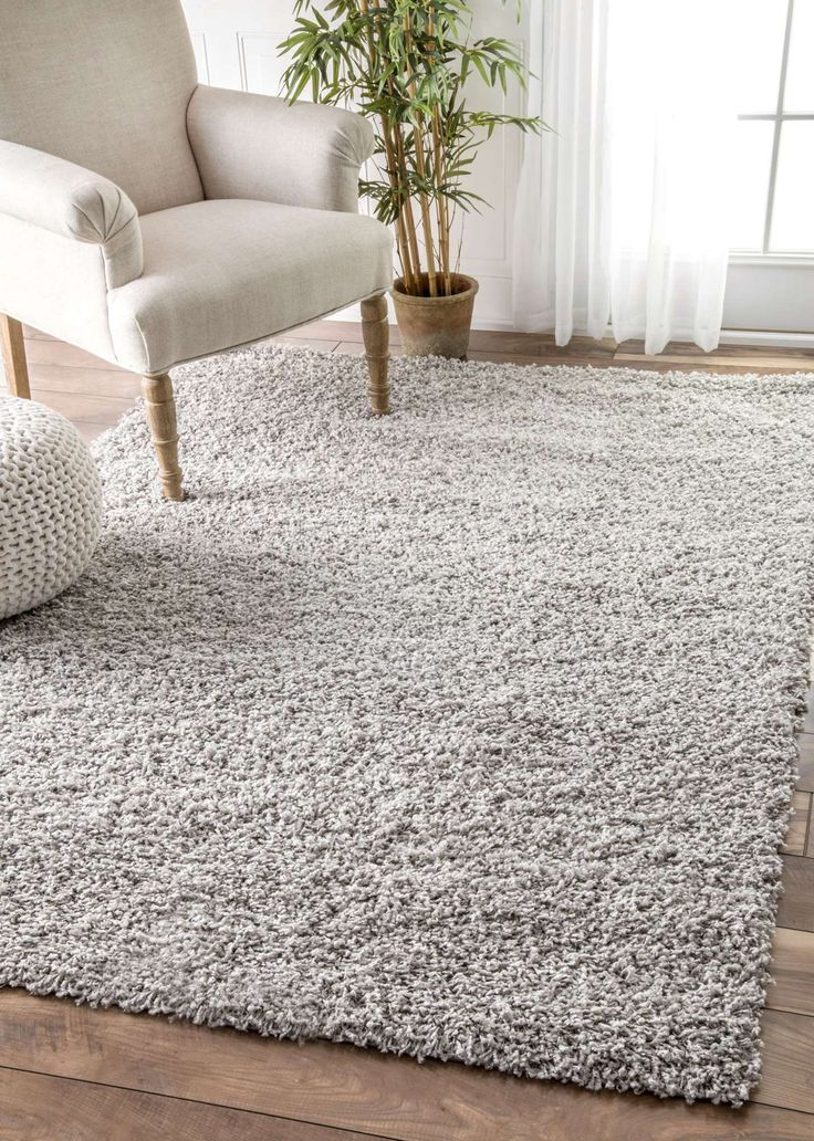 Rugs USA White Venice Shaggy rug - Casuals Rectangle 3' x 5'
