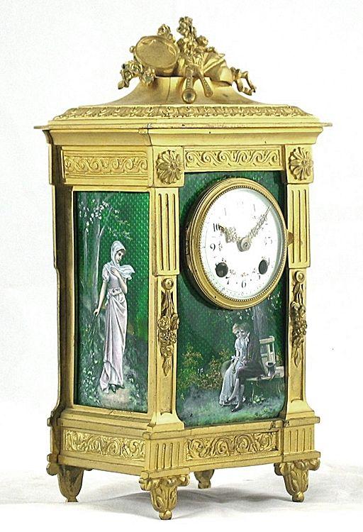 Antique Clocks A Fine Louis Xvi Style Gilt Bronze Green