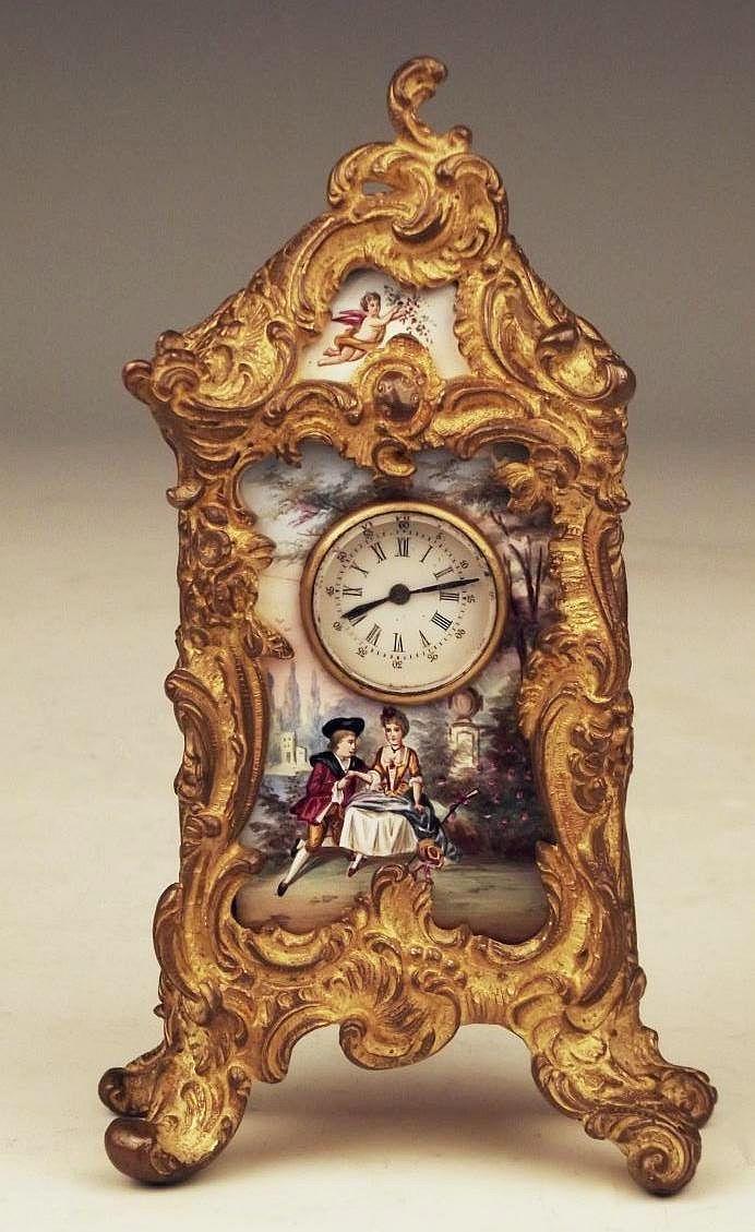 Antique Clocks Rare Antique Austrian Vienna Enamel