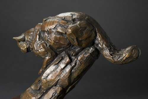 #Bronze #sculpture by #sculptor David Mayer titled: 'Scottish Wildcat (Little br...