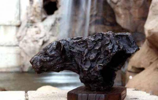 #Bronze #sculpture by #sculptor Jan Sweeney titled: 'Leopard Prowl (Bronze Torso...