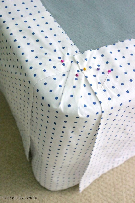 I need to make one of these for the antique bed. DIY Custom Bedskirt From Flat S...