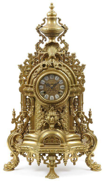 Clocks decor a french rococo style gilt metal mantel for Rococo decorative style