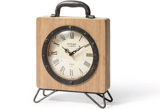 Billie Table Clock - From Antiquefarmhouse.com - www.antiquefarmho...