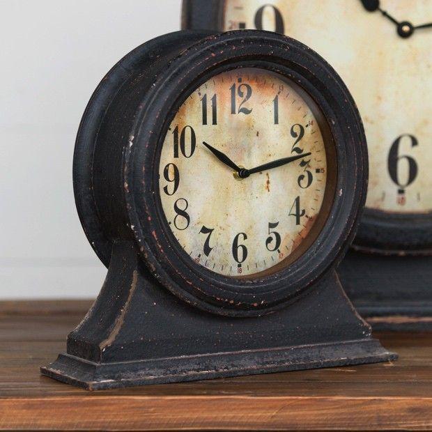Black Metal Mantel Clock
